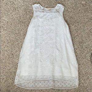 Altar'd State White Sleeveless Dress